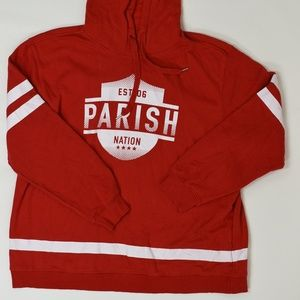 Parish Nation Big & Tall 5XL Red   Hoodie Jacket C